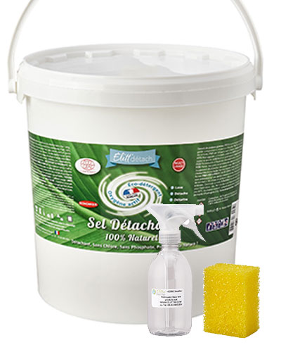 Sel Détachant Elitt'détach 10 Kg + spray et éponge