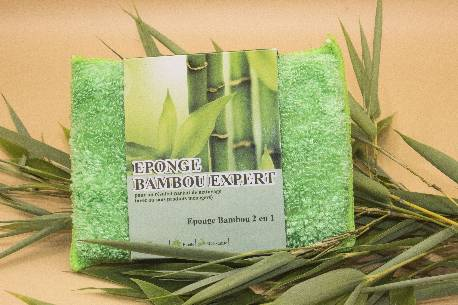 Lot de 3 Eponges Micro Fibre 'Bambou Expert'