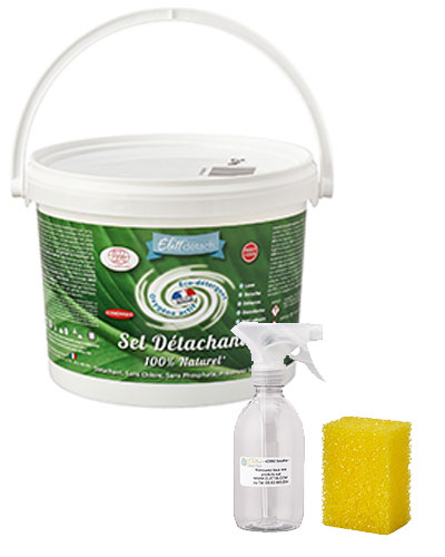 Sel Détachant Elitt' détach 3 Kg + spray et éponge