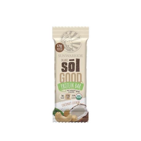Barre énergétique Bio Protéinée, Sunwarrior Sol GOOD  (Cajou-Coco) 62g