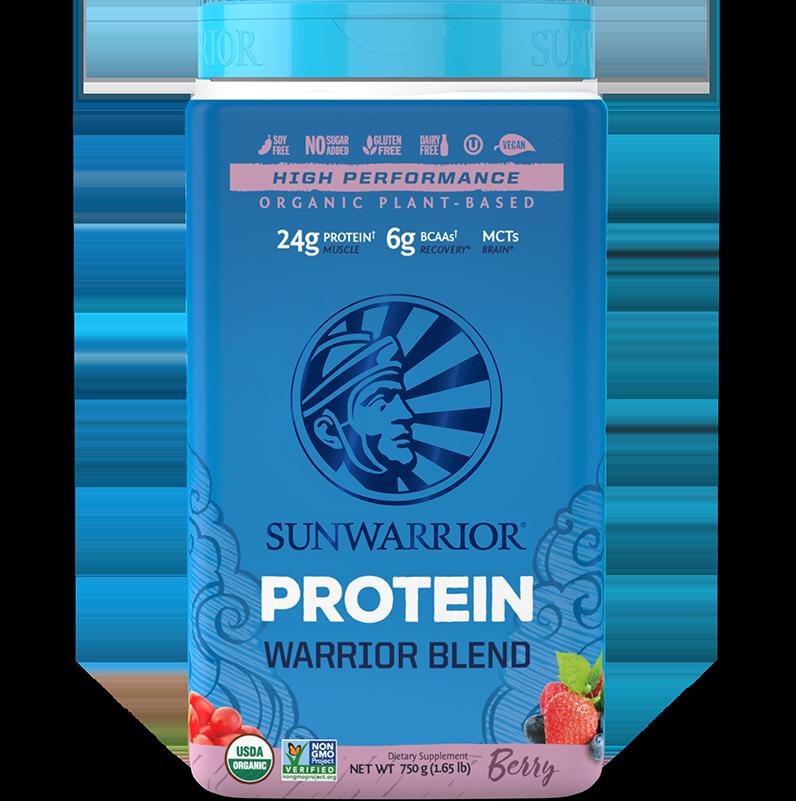 Warrior Blend Protéines Végétales Bio, Multi-Sources - Berry