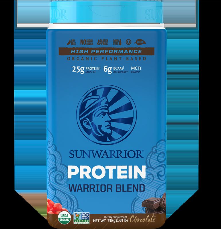 Warrior Blend Protéines Végétales Bio, Multi-Sources - Chocolat