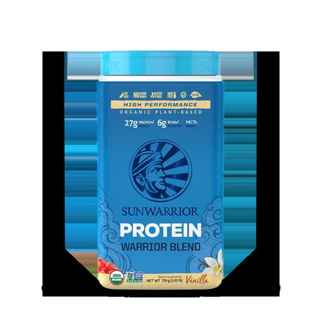Warrior Blend Protéines Végétales Bio, Multi-Sources - Vanille